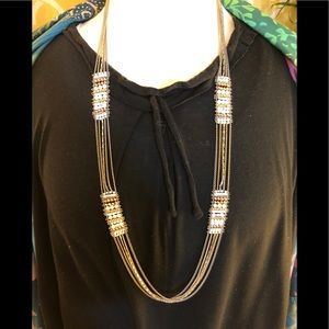 Stella & Dot Multi Strand with Beads Necklace.